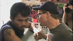 Pacquiao workout 2004 at Wild Card Boxing Club Stock Footage