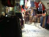 VJ47 vj loop of people in the old city of Jerusalem Stock Footage