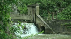 Old 20th century Dam _11 Stock Footage