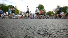 HD - City marathon. Wide angle view Stock Footage