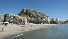 Beach in Alicante, Catalonia Spain Stock Footage