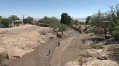 Chile Atacama stream at Toconao - stock footage
