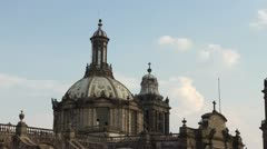 mexico city zocalo cathedral - stock footage