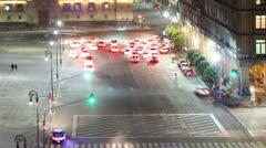 Mexico city zocalo traffic Stock Footage