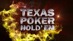 POKER TEXAS HOLD' EM Text in Particle (Double Version) - HD1080 Stock Footage