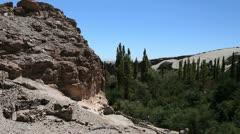 Chile Atacama Valle de Jere ruddy rock Stock Footage