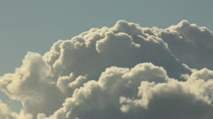 Cumulus clouds inflate Stock Footage
