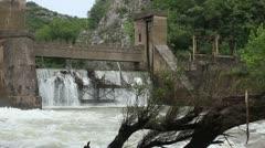 Old 20th century Dam _1 Stock Footage