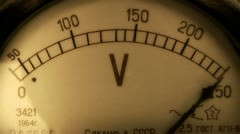 Analog voltmeter. Stock Footage