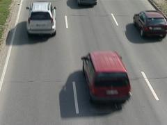 Cars pass highway vilnius Stock Footage
