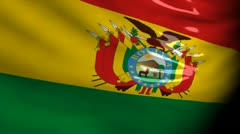 Crisis map Bolivia Stock Footage