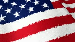 USA flag brush strokes - stock footage