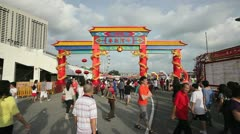 River Hongbao Decorations for Chinese New Year, Singapore Stock Footage