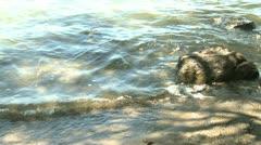 River pan up Stock Footage