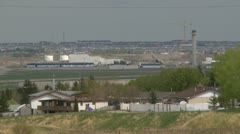 Stock Video Footage of Calgary international airport ATC construction long shot