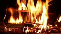 Fireplace 02 Stock Footage