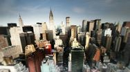 Nyc skyline blur03 Stock Footage