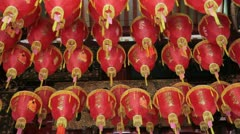 Interior of a small local Temple in Chinatown, Singapore Stock Footage