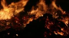 Fire Close Clip 11 Stock Footage
