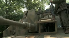 German Tank front lines Stock Footage