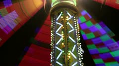 Stock Video Footage of carnival light show colorful