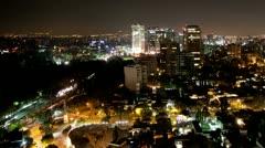 mexico DF skyline city urban skyscrapers - stock footage