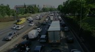 Stock Video Footage of Paris RIng Road Traffic 1