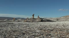 Atacama Valle de la Luna rock pillars Stock Footage