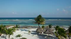 Paradise beach caribbean mexico Stock Footage