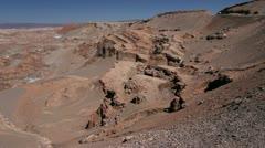 Atacama Cordillera de Sal formations Stock Footage