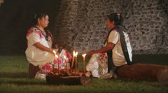 Mayan women - stock footage