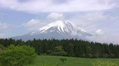 Mt. Fuji, Japan's tallest mountain (timelapse) - stock footage
