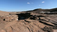 Atacama Valle de la Luna stream bed Stock Footage