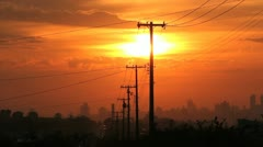 Sunset - City View - Brazilian City Stock Footage