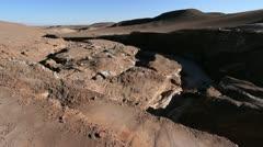 Atacama Valle de la Luna view Stock Footage