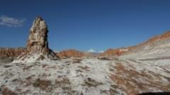 Atacama Valle de la Luna pillar Stock Footage