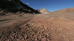 Atacama Valle de la Luna with mud Stock Footage