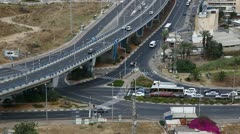 Checkpost intersection Haifa Israel time lapse Stock Footage
