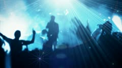 Concert Arena stage color series 3 Stock Footage