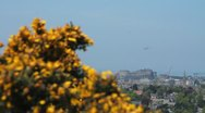 View of the castle in Edinburgh Stock Footage