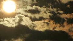 Big sun and clouds Stock Footage