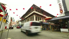 Chinatown in Singapore, timelapse in motion Stock Footage