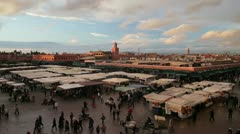 Djemaa el Fna Food Stalls, Marrakesh, Morocco Stock Footage