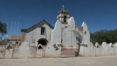San Pedro de Atacama church s2 Stock Footage