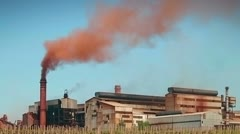 Air pollution by heavy industry Stock Footage