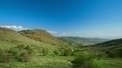 Vehicle shot of countryside - stock footage