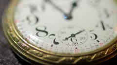Close up of antique pocket watch 01 - stock footage
