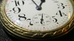 Close up of antique pocket watch 03 - stock footage