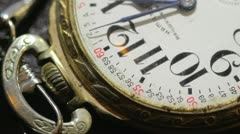 Close up of antique pocket watch 05 - stock footage