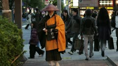 Collecting Alms Donations Tokyo, Japan,  Stock Footage